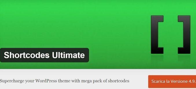 Shortcodes Ultimate, utilizzare il plugin per potenziare tema WordPress Per installare ShortCodes Ultimate la procedura è la stessa che si adotta per tutti gli altri plugin