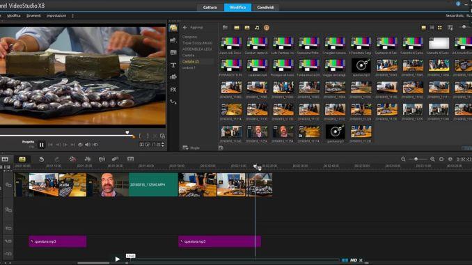Inserire una intervista in un servizio video utilizzando Corel Video X8